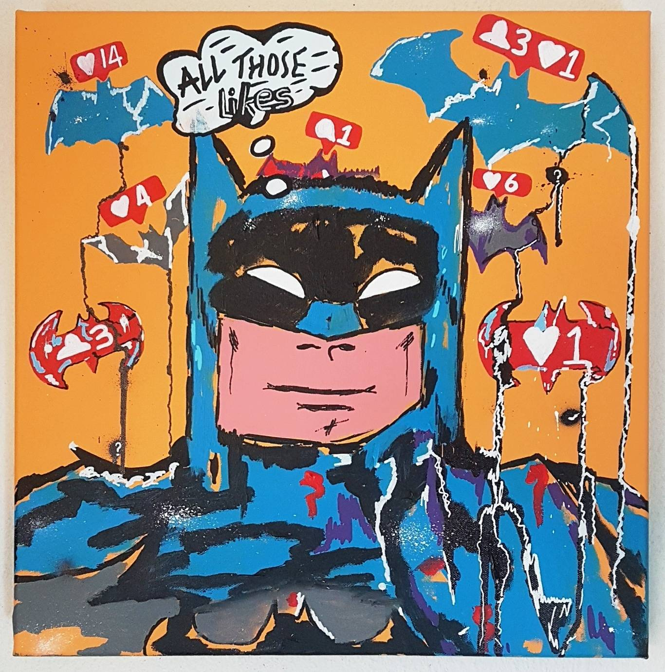 BATMAN 40X40X4 COMICS COLOUR PAINTING INSTAGRAM