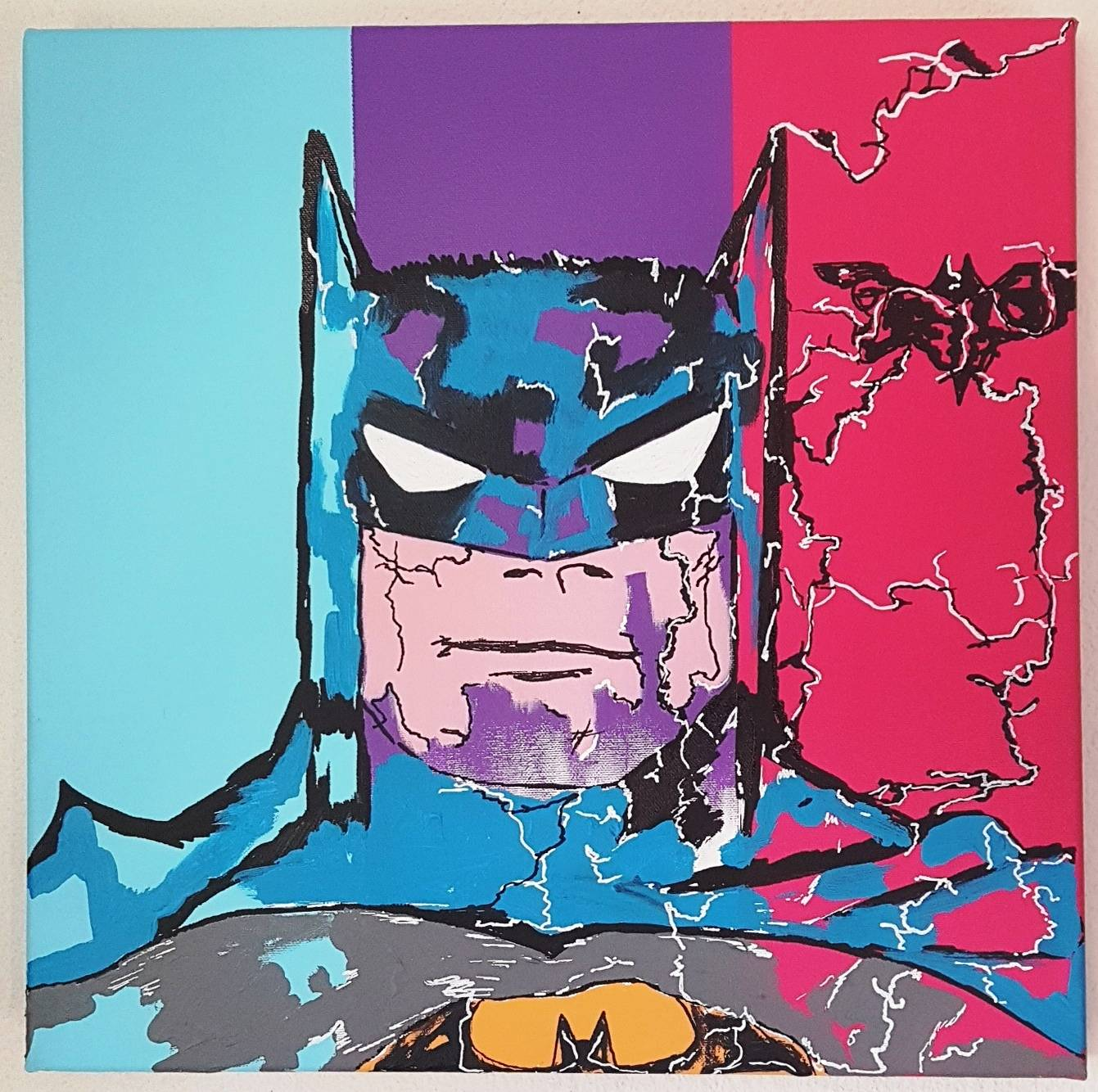 BATMAN 40X40X4 COMICS COLOUR PAINTING WALL