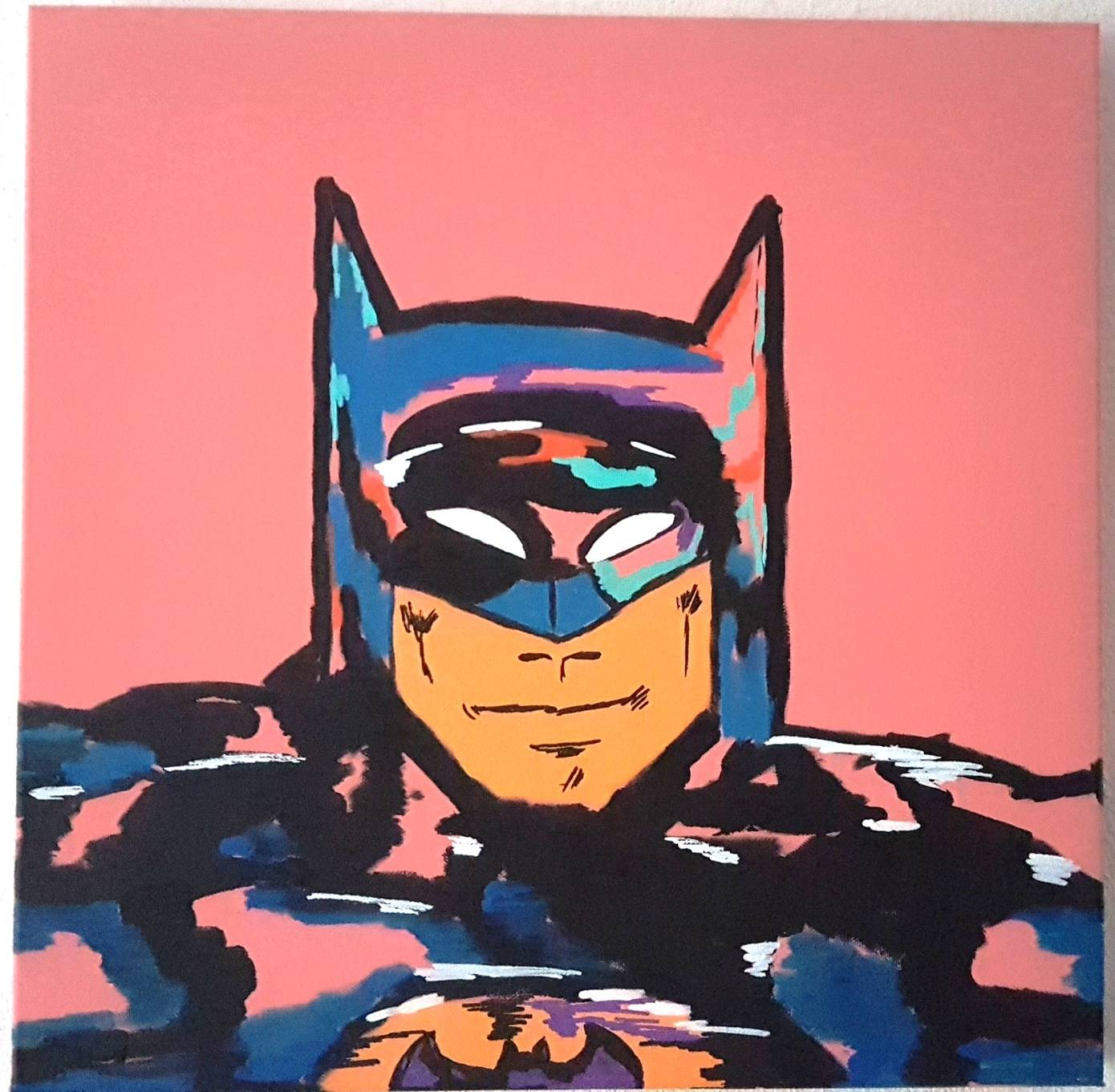 BATMAN 50X50X4 ABSTRACT COLOUR..