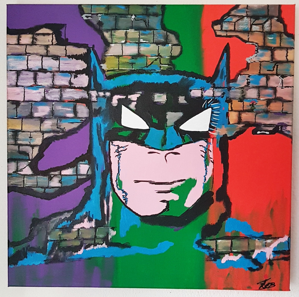 BATMAN WALL 50X50X4 COMICS COLOUR PAINTING INSTAGRAM_1