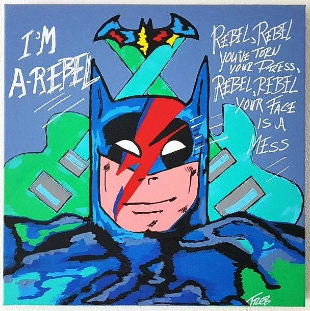 Batrebel 50x50x4cm abstract popart color painting