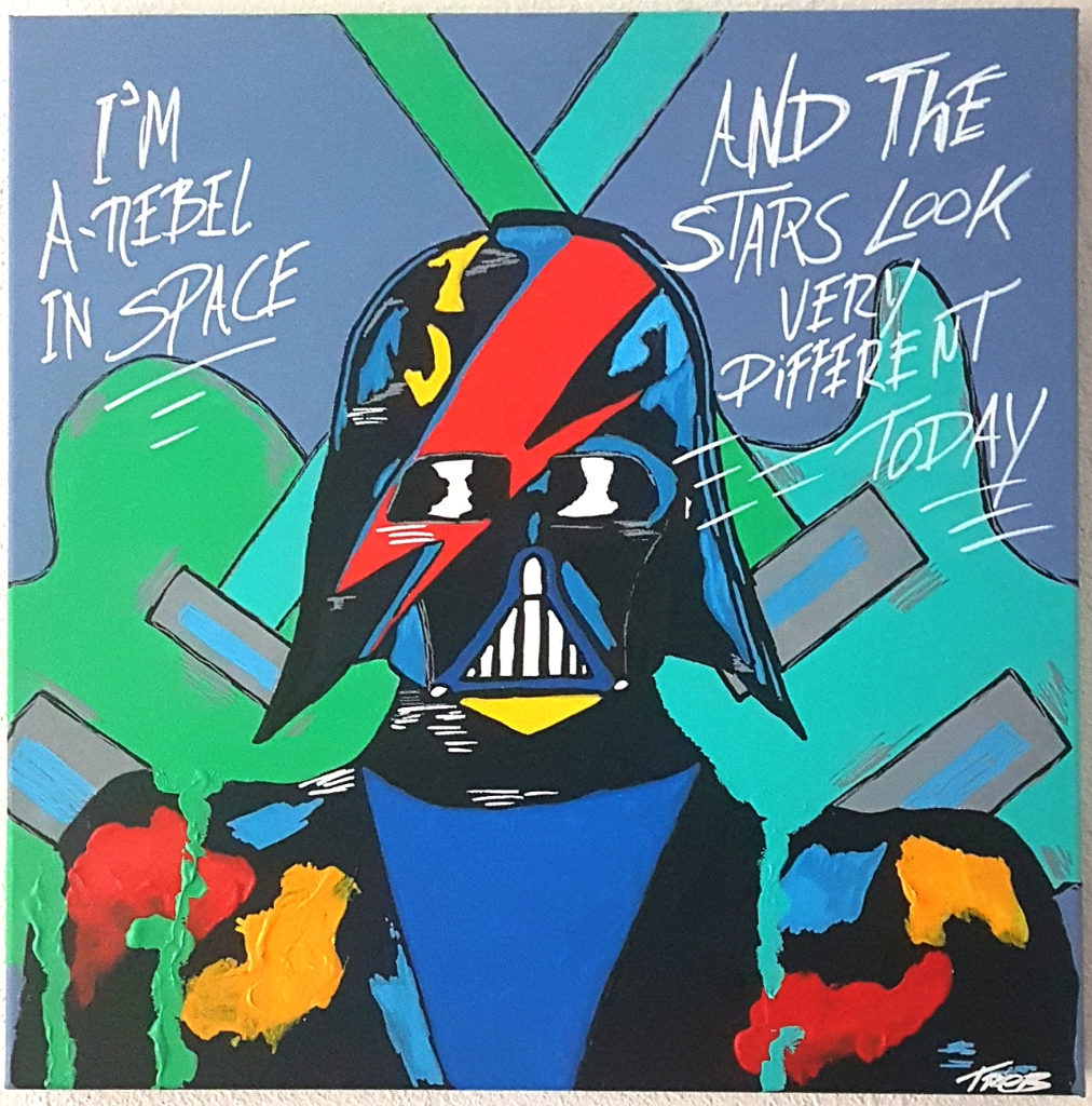 Star rebel 50x50x4cm abstract popart color painting_1